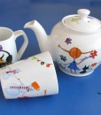 painted tea set